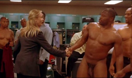 black guy naked moment in locker room