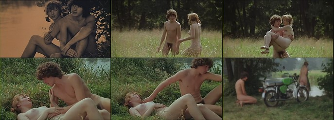 boy naked outdoors in vintage movie