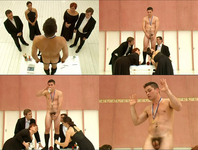 hungarian naked guy on the stage