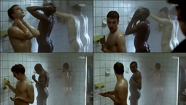 black guy big dick shower