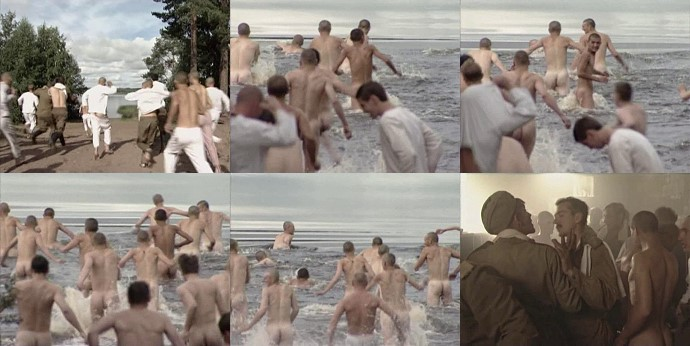 naked soldiers in the river and bath
