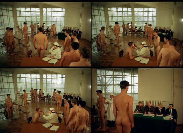 Russian schoolboys military medical examinations