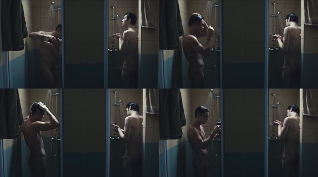 two naked guys in shower from polish movie