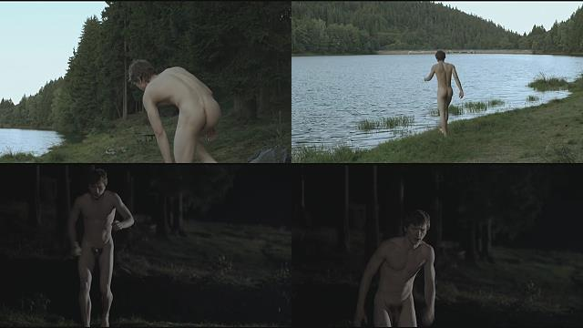 a boy naked in the river until evening