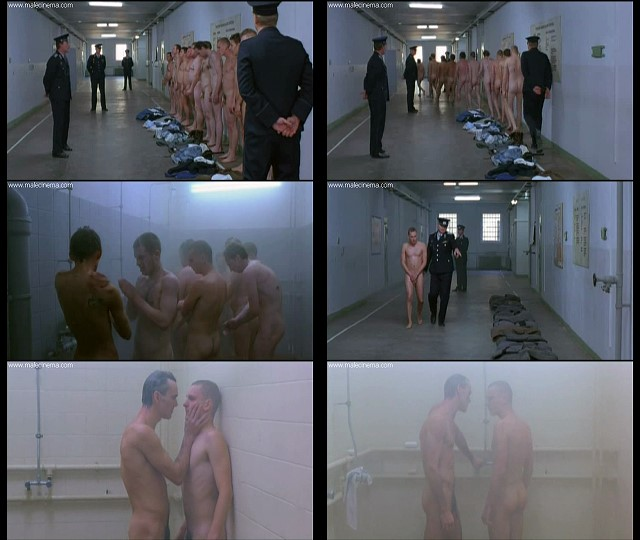 nude men and boy in prison shower