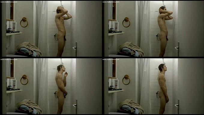 beautiful nude boy showering