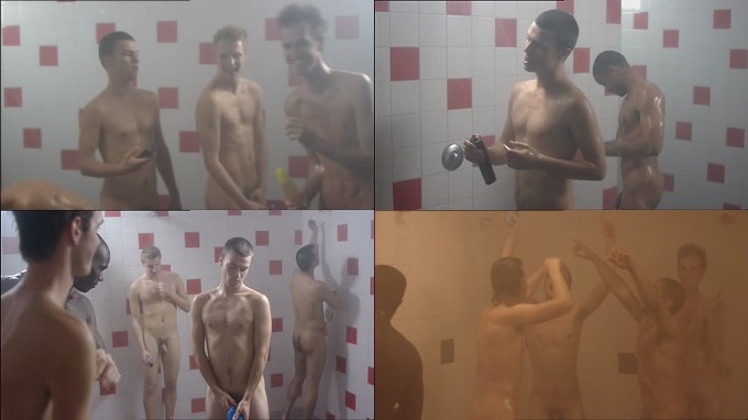 Dutch guys showering naked