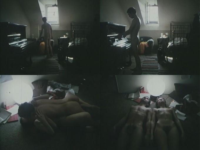 naked boy and piano