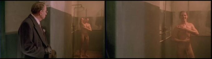 italian guy take shower naked
