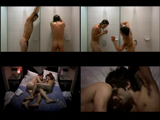 two guys showering and having gay sex